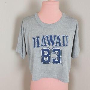 VINTAGE 80s CROPPED HAWAII VINTAGE TEE SHIRT